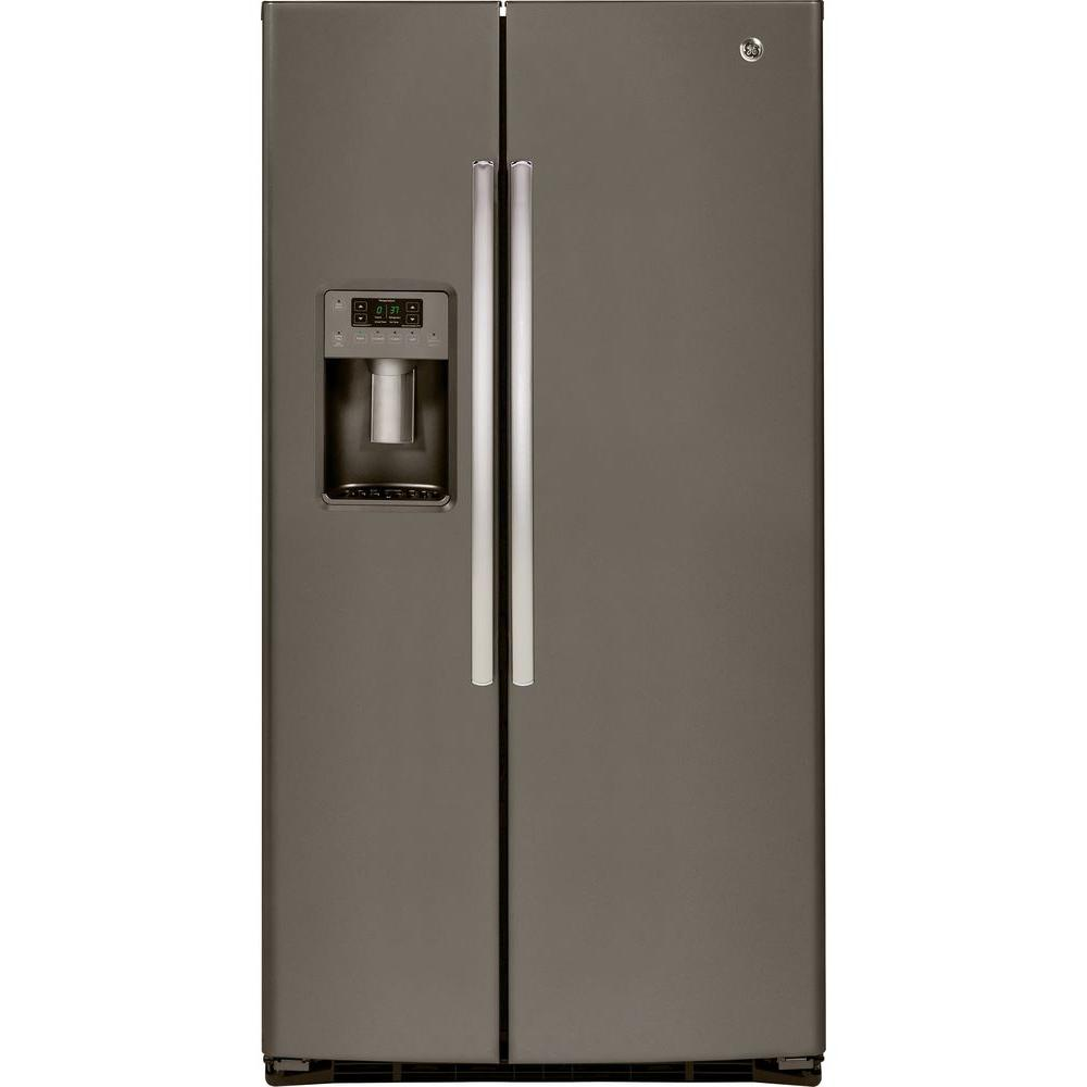 GE 25.9 cu. ft. Side by Side Refrigerator in Slate