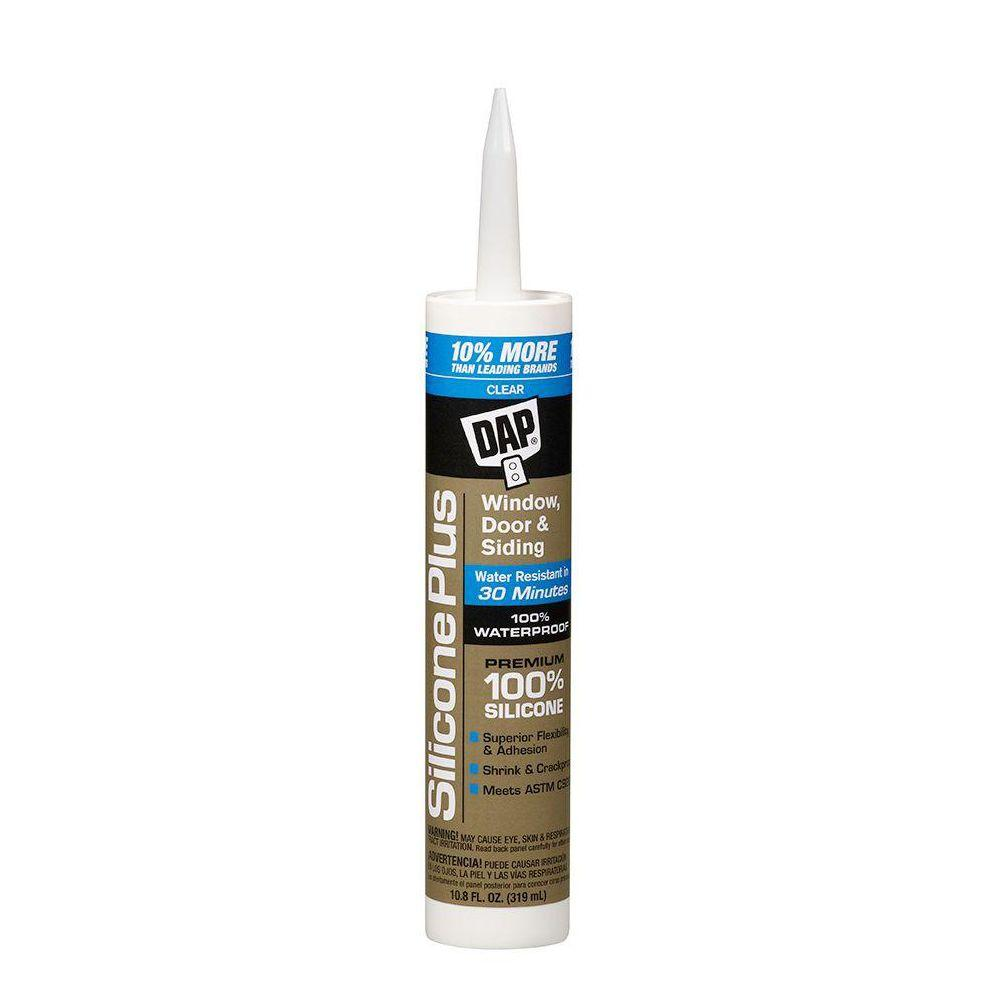 Silicone Plus 10.8 oz. Clear Premium Window, Door and Siding Sealant