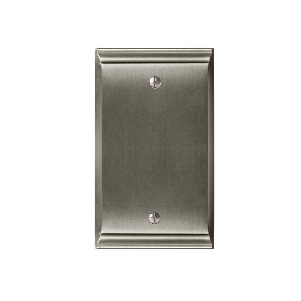 Candler Blank Wall Plate, Satin Nickel