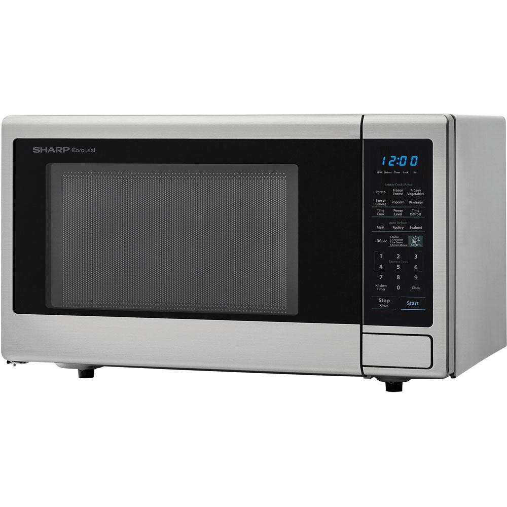 Sharp Carousel 1 4 Cu Ft 1000w Countertop Microwave Oven In Stainless Steel Ista