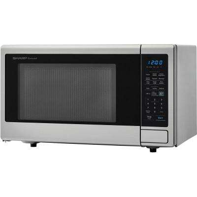 Carousel 1.4 cu. ft. 1000W Countertop Microwave Oven in Stainless Steel (ISTA 6 Packaging)