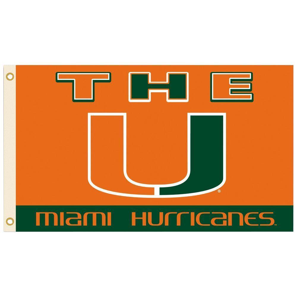 NCAA 3 ft. x 5 ft. Miami Flag
