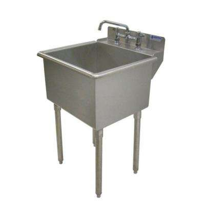 LT-Series 24x24 Stainless Steel Freestanding 2-Hole Laundry Sink