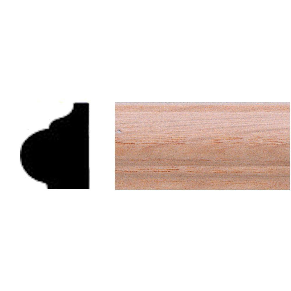 5/8 in. x 3/4 in. x 84 in. Oak-Panel Shelf Moulding