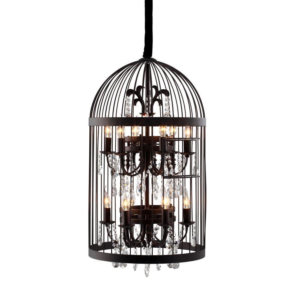 Canary 12-Light Rust Ceiling Pendant