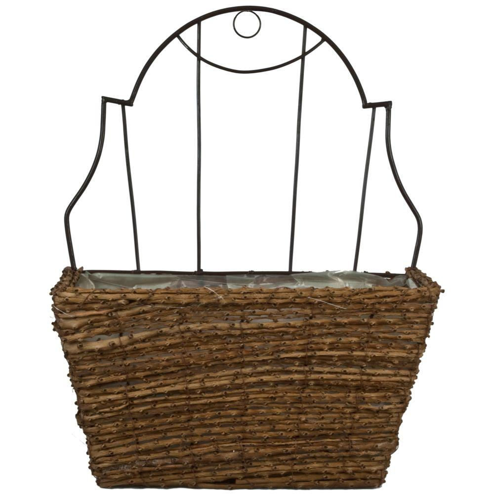 15 in. Vine Coconut Fiber Wall Planter