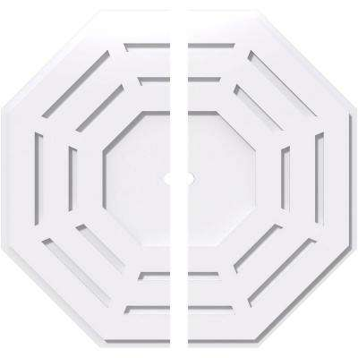 26 in. OD x 1 in. ID x 1 in. P Westin Architectural Grade PVC Contemporary Ceiling Medallion (2-Piece)