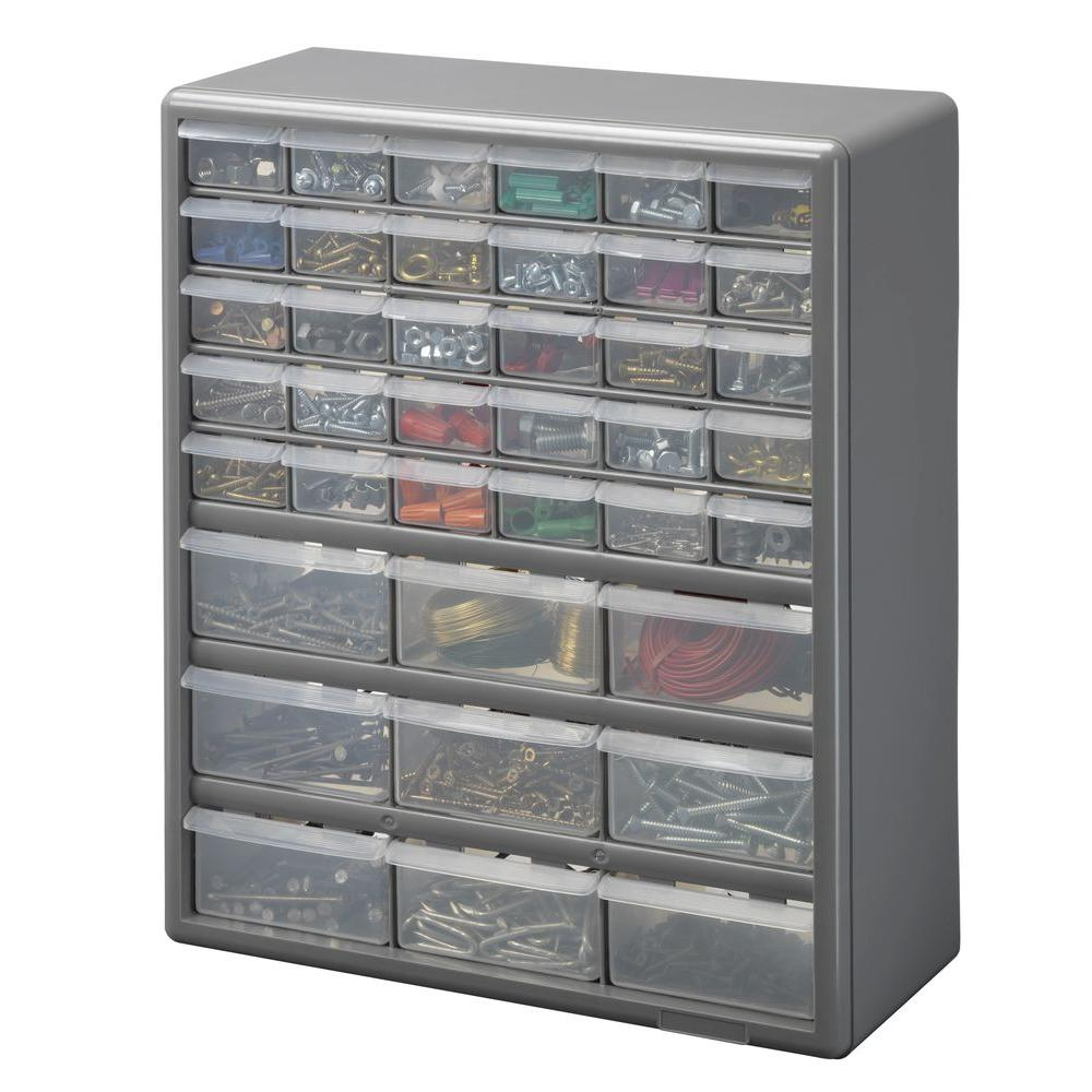 Amazing Stack On 39 Compartment Storage Small Parts Organizer DS 39   The Home Depot