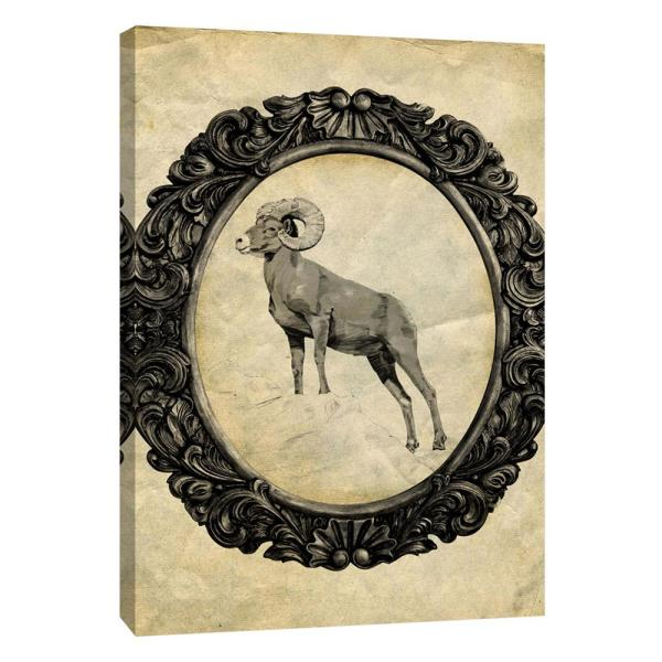 PTM Images 12 in. x 10 in. ''Framed Bighorn Sheep'' Printed