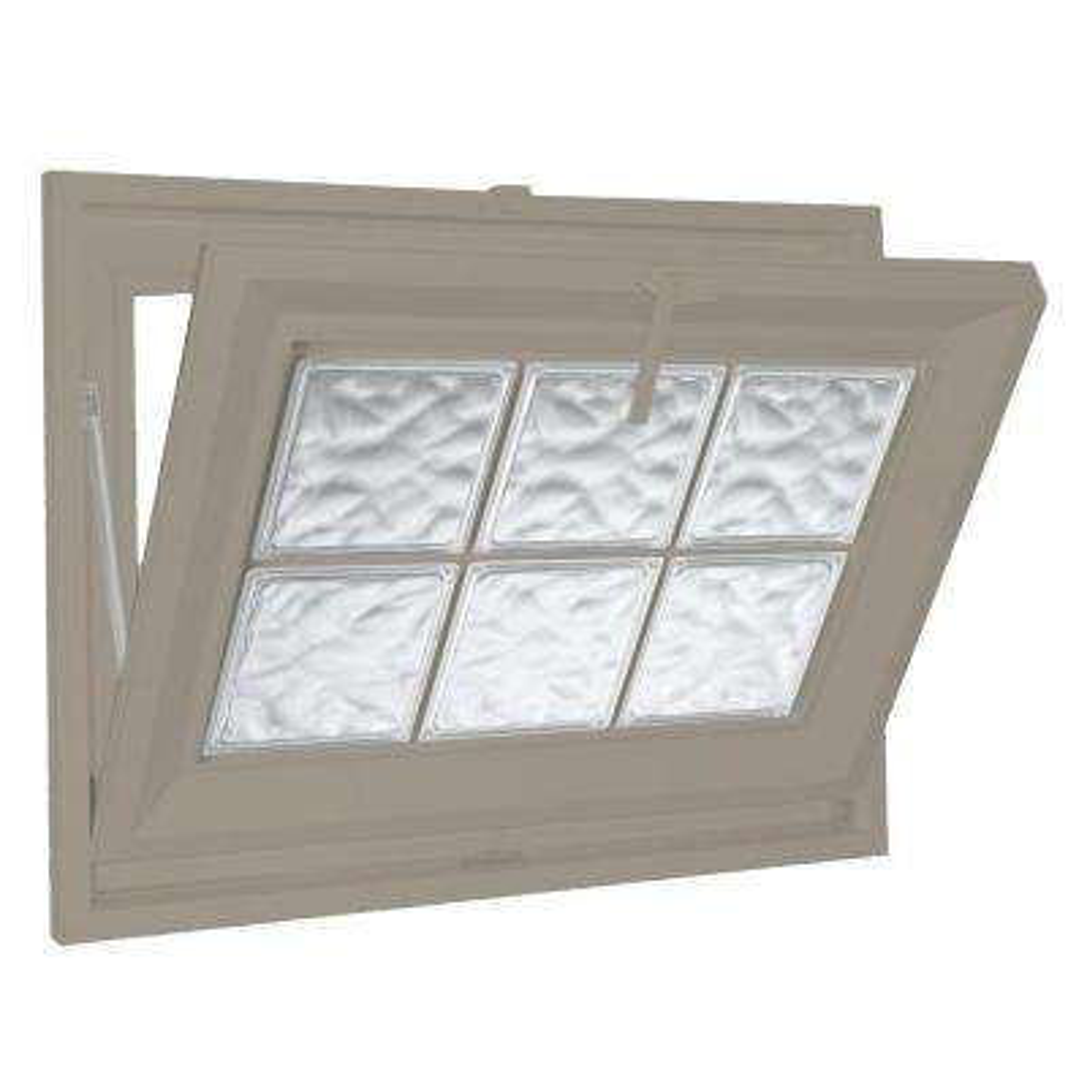 37 in. x 19 in. Acrylic Block Hopper Vinyl Window