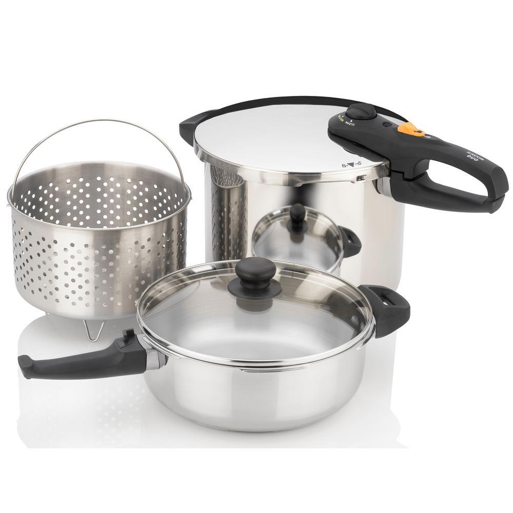 Duo 5-Piece Combination Pressure Cooker Set