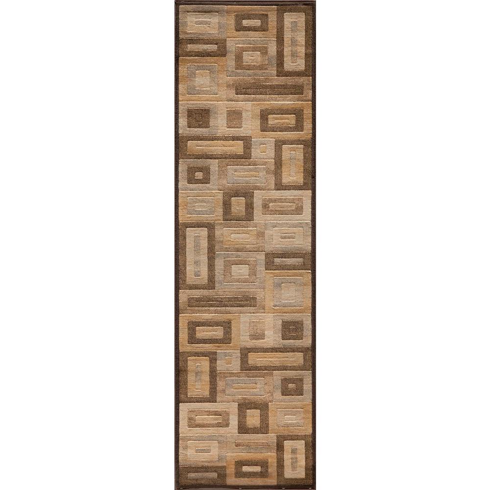 Marvelous Brown 2 ft. 3 in. x 7 ft. 6 in.