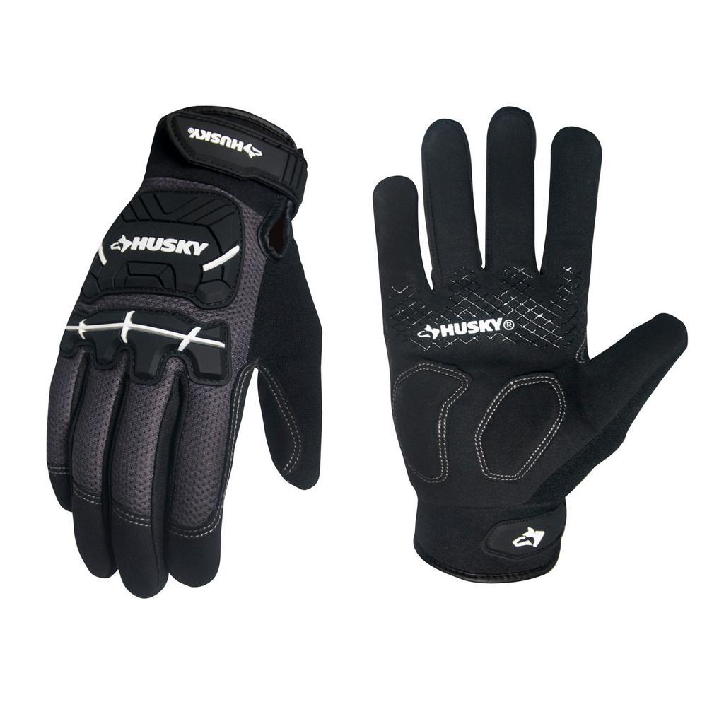 Husky Medium Heavy-Duty Mechanic Glove (3-Pack)