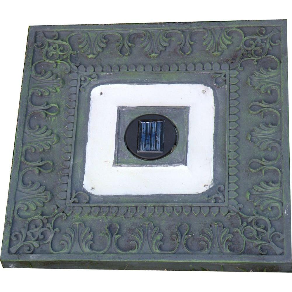 HomeBrite Solar Green Outdoor Square Solar LED Stepping Stone Light (3-Pack)