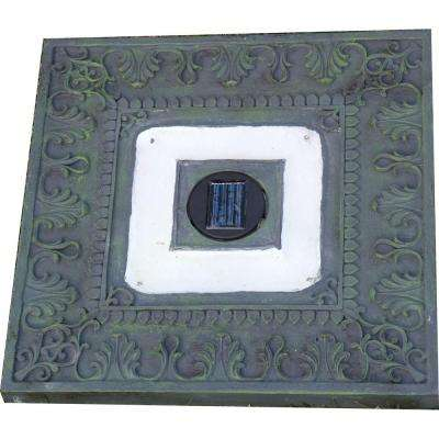 Green Outdoor Square Solar LED Stepping Stone Light (3-Pack)