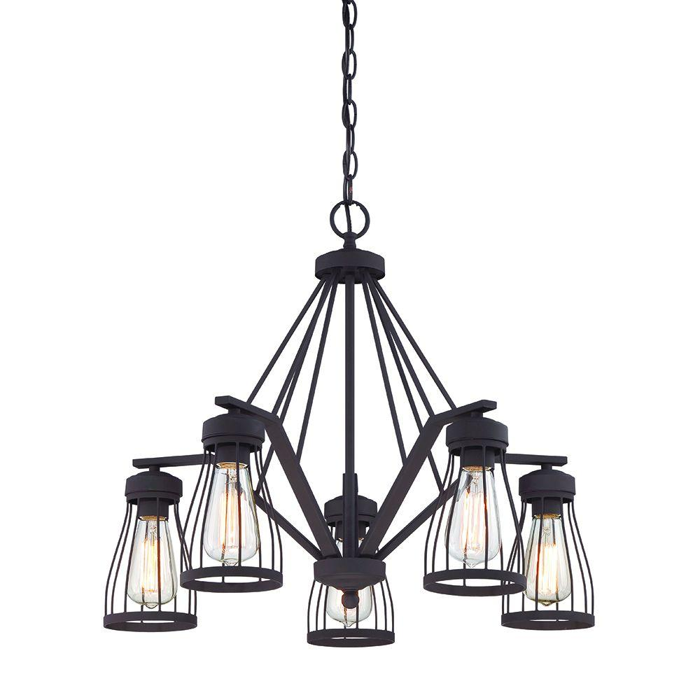 Brooklyn 5-Light Bronze Chandelier