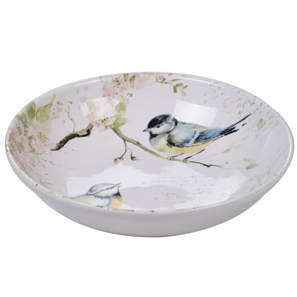 Spring Meadows Multi-Colored 13 in. Serving/Pasta Bowl