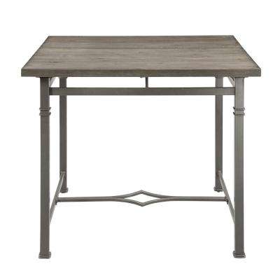 LynLee Weathered Dark Oak and Dark Bronze Counter Height Table