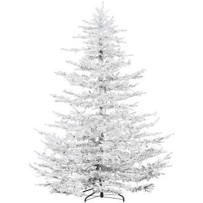 9 ft. Arctic Pine Artificial Christmas Tree with Multi-Color LED String Lighting