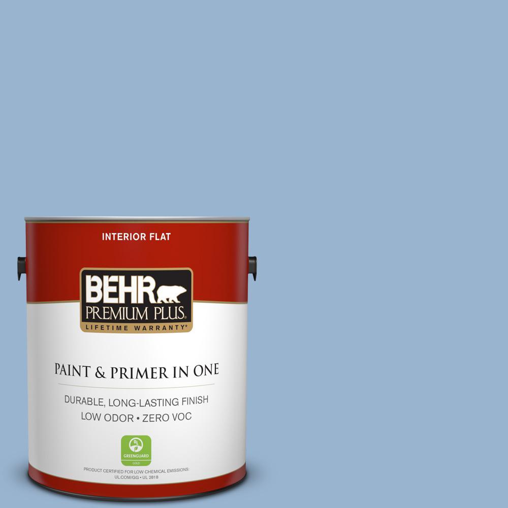 1 gal. #PPU14-10 Blue Suede Zero VOC Flat Interior Paint