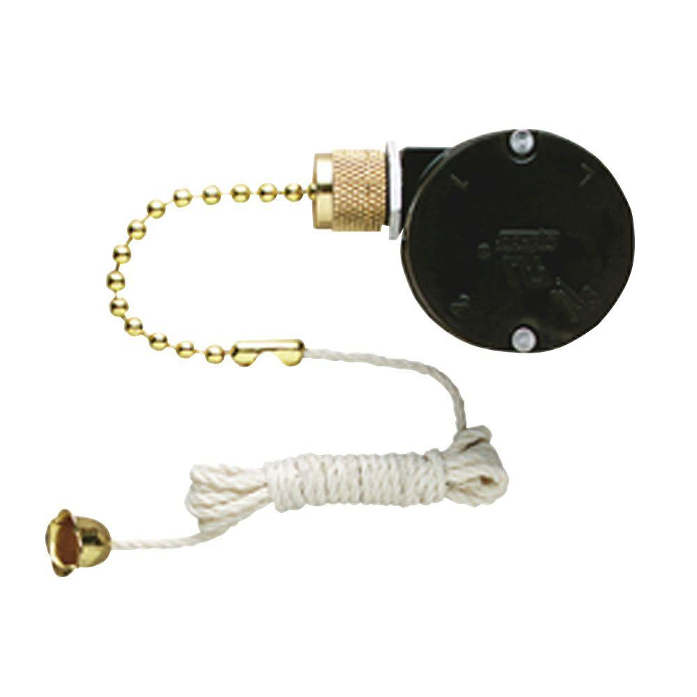 Westinghouse Replacement 3-Speed Fan Switch with Pull Chain for  Triple-Capacitor Ceiling Fans