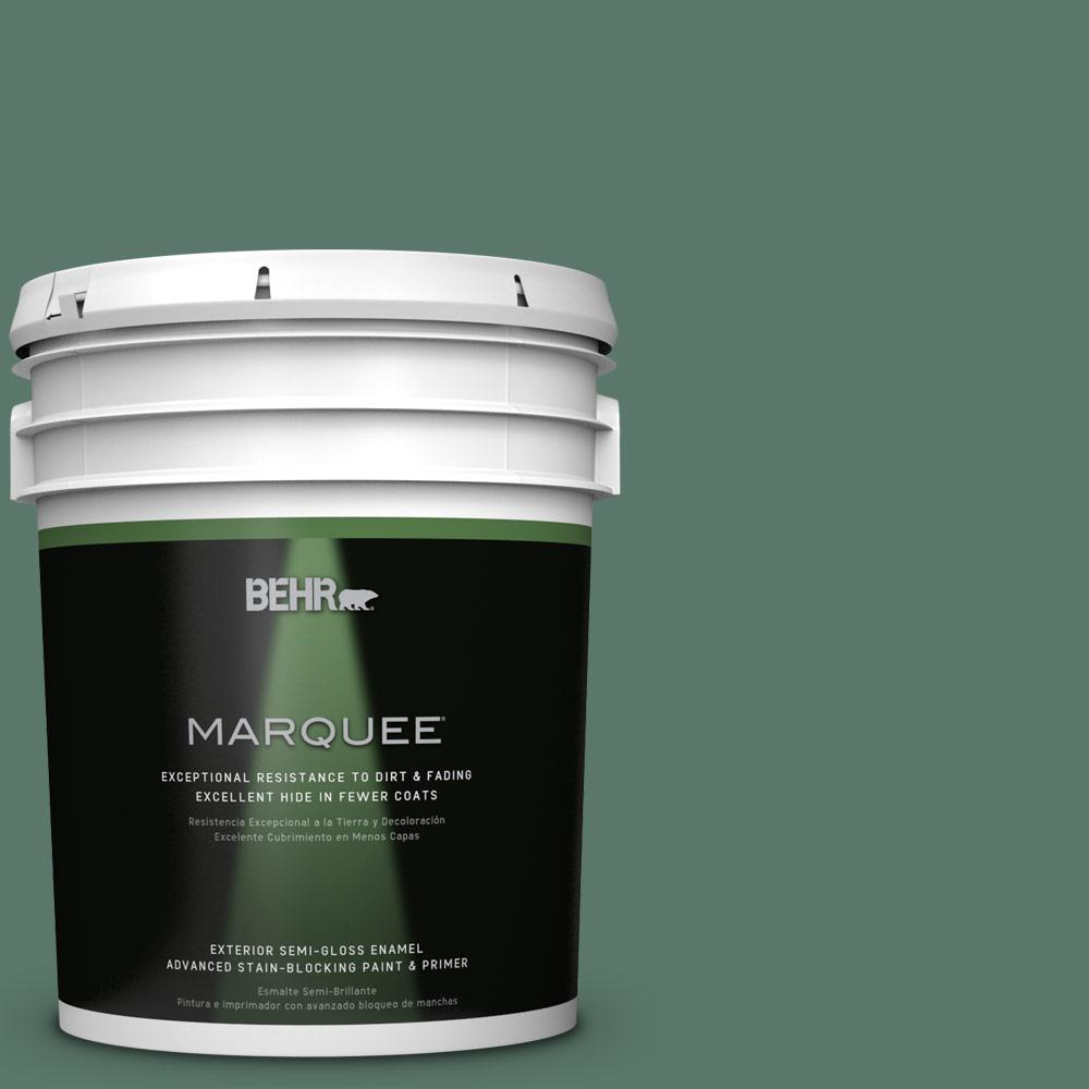 5-gal. #S420-6 Pine Brook Semi-Gloss Enamel Exterior Paint