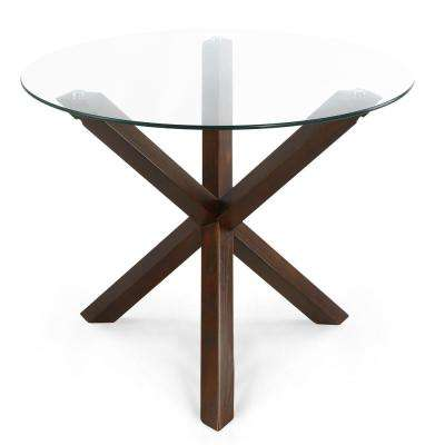 Kennedy 37.4 in. Round Dining Table in Walnut