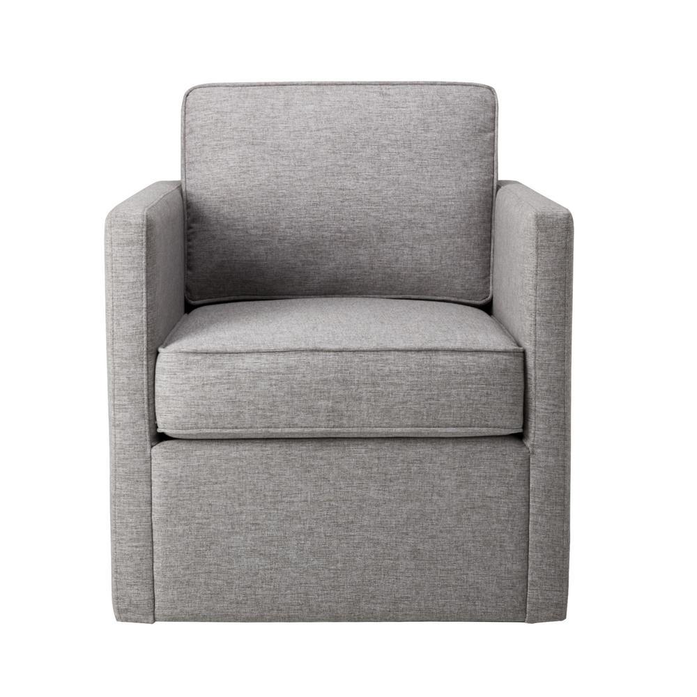 Sensational Homepop Brushed Light Gray Modern Accent With Swivel Base Theyellowbook Wood Chair Design Ideas Theyellowbookinfo