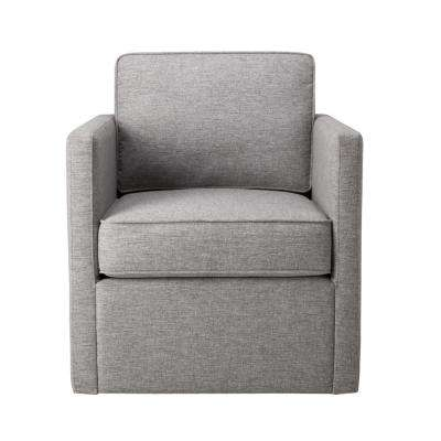 Brushed Light Gray Modern Accent with Swivel Base