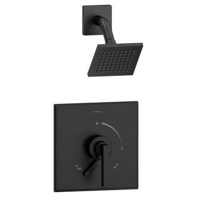 Duro Single-Handle Shower Faucet Trim with Volume Control Lever in Matte Black (Valve Not Included)