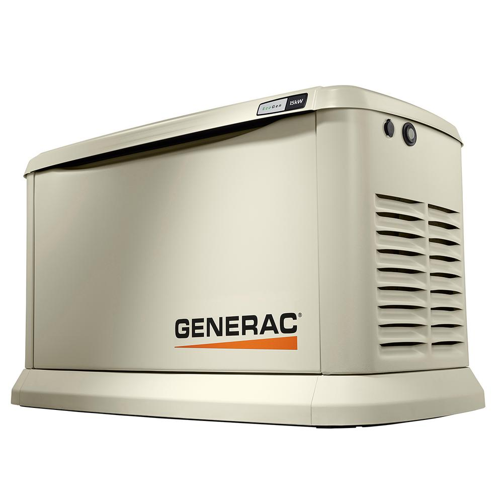 15,000-Watt Air-Cooled EcoGen Standby Generator, Aluminum Enclosure