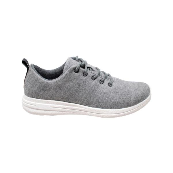 12 Gray Wool Casual Shoes-AP1005-M120