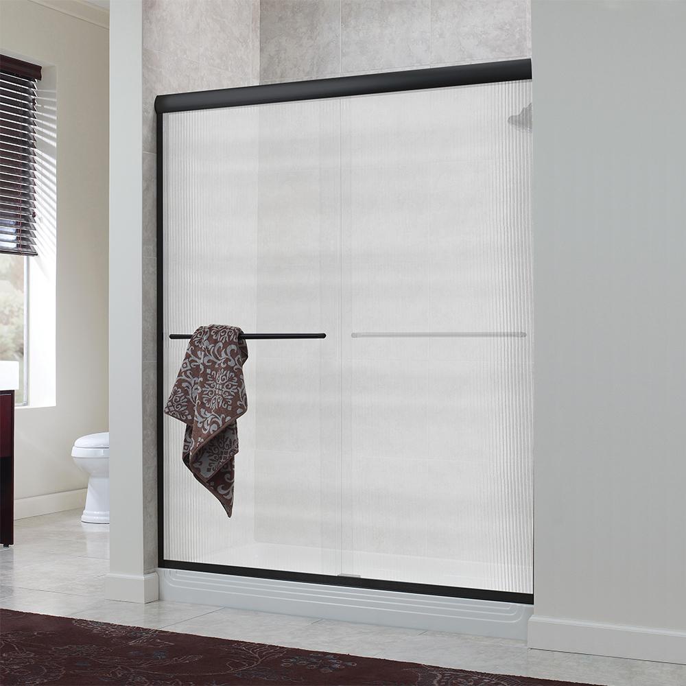 Semi-Frameless - Gold - Bypass/Sliding - Shower Doors - Showers ...