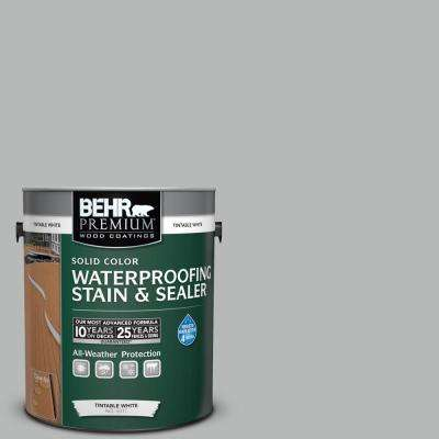 1 gal. #N460-3 Lunar Surface Solid Color Waterproofing Exterior Wood Stain and Sealer