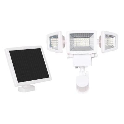 125-Watt 130-Degree White Motion Activated Outdoor Integrated LED Solar Flood Light