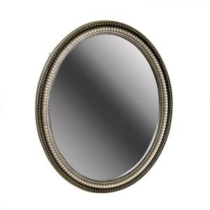 H Zenith Oval Mirror Surface Mount Medicine Cabinet In Pewter Pmv2532bb The Home Depot