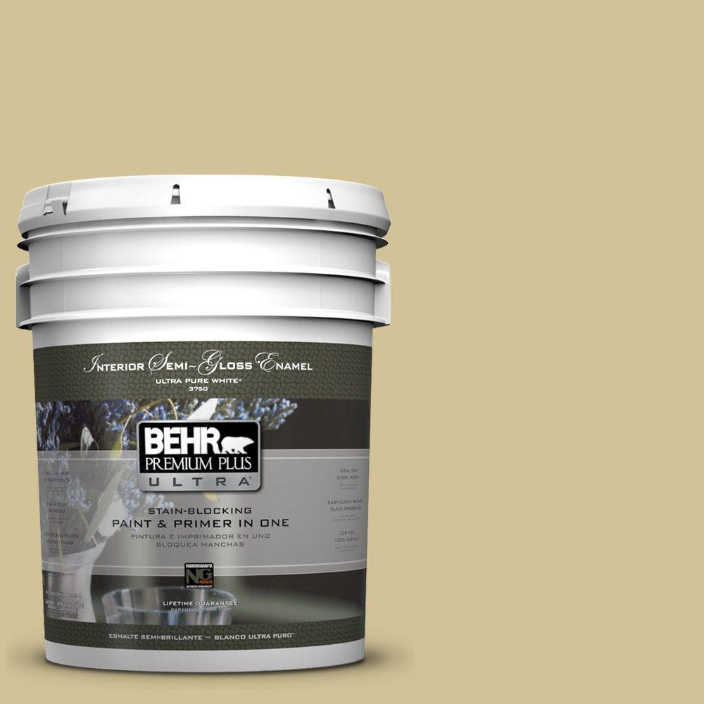 5-gal. #370F-4 Winter Mood Semi-Gloss Enamel Interior Paint