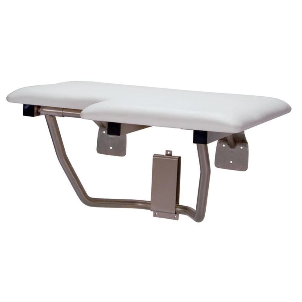 CareGiver 26 in. Left Hand Shower Seat Bench