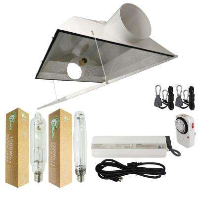 1000-Watt HPS/MH Grow Light System with 6 in. Extra Large Air Cooled Hood Reflector