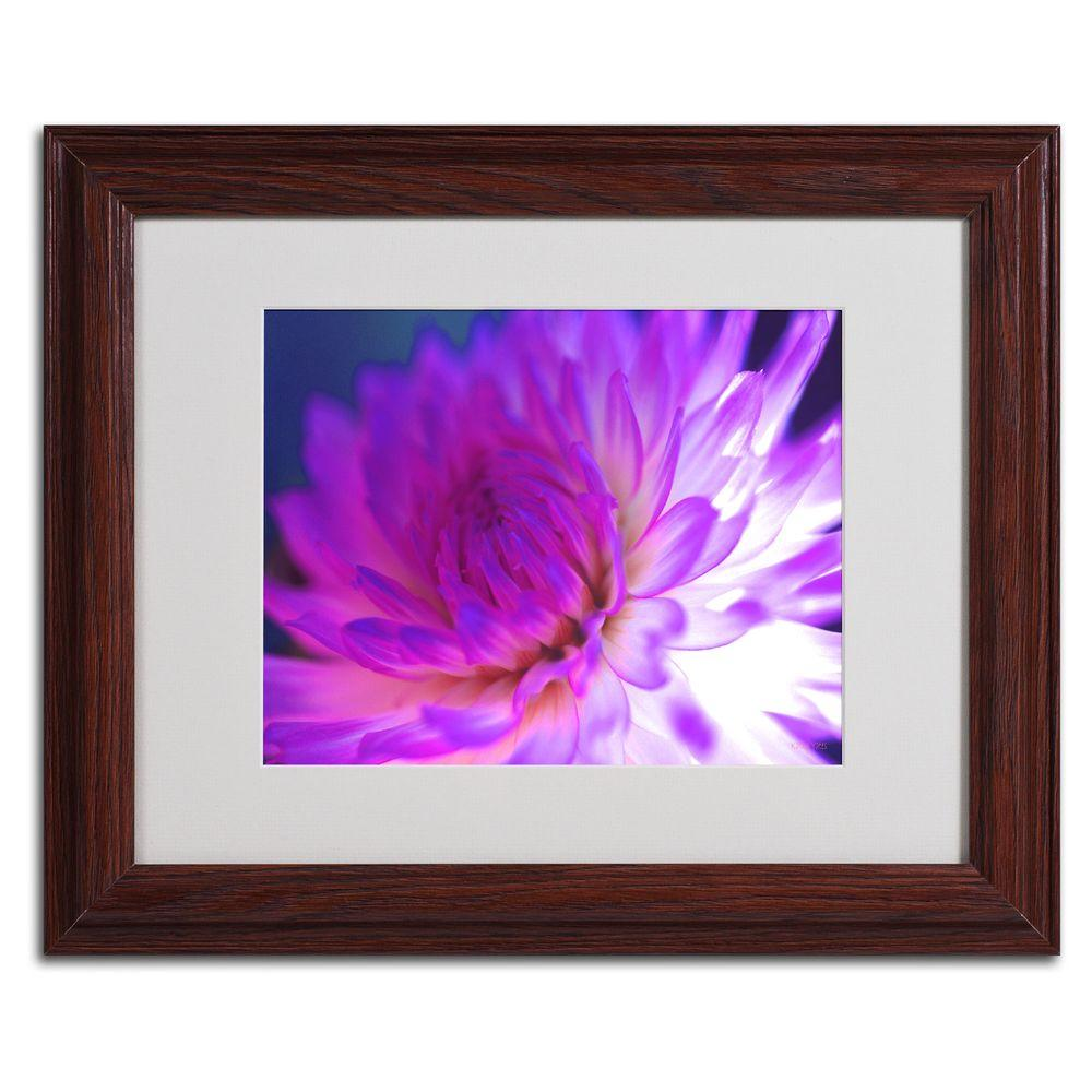 11 in. x 14 in. Mod Dahlia Matted Framed Art