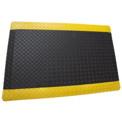 Diamond Plate Anti-Fatigue Black/Yellow DS 3 ft. x 4 ft. x 15/16 in. Commercial Mat