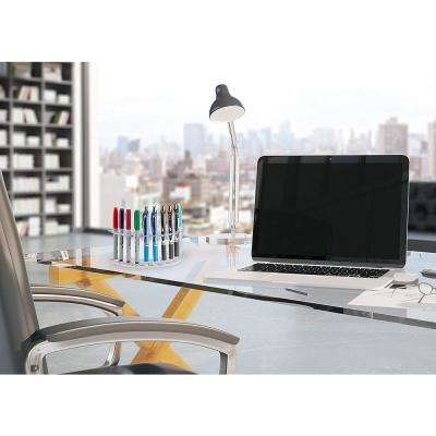Acrylic 12-Pen Premium Moon Shaped Display Stand (2-Pack)