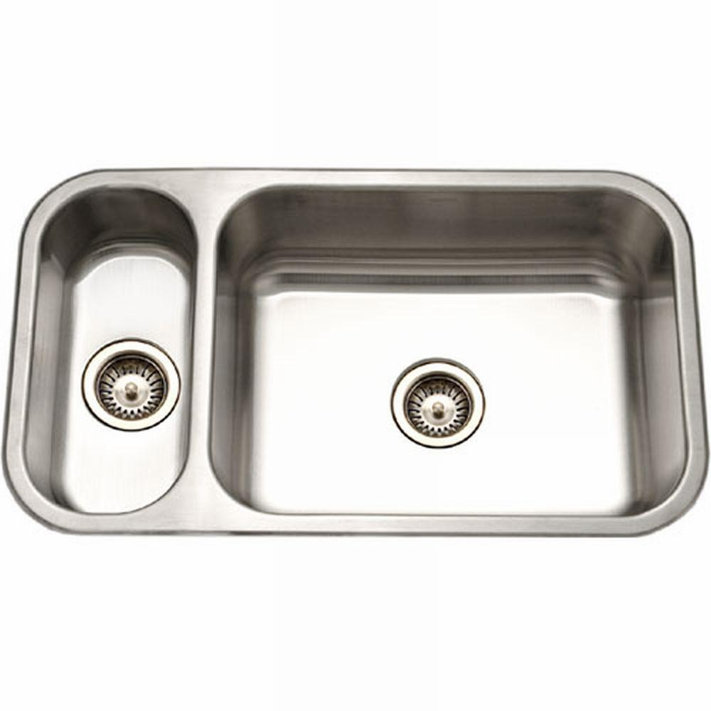 Genial HOUZER Elite Series Undermount Stainless Steel 32 In. Double Bowl Kitchen  Sink EHD 3118 1   The Home Depot