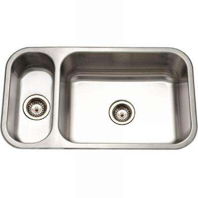 Elite Series Undermount Stainless Steel 32 in. Double Bowl Kitchen Sink
