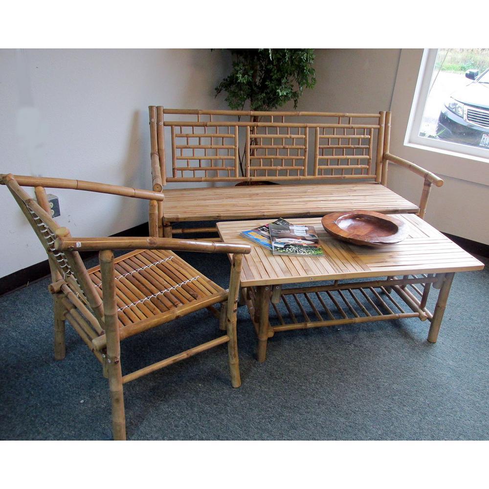 Groovy Mgp Natural Bamboo Standard Square Pattern Bench Customarchery Wood Chair Design Ideas Customarcherynet