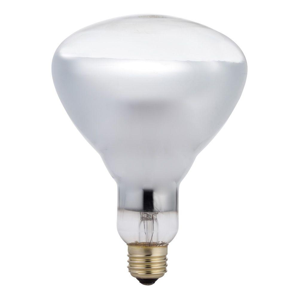 Philips 125-Watt BR40 Incandescent Heat Clear Light Bulb-416750 ...