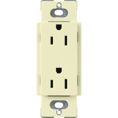 Claro 15 Amp Duplex Outlet, Almond
