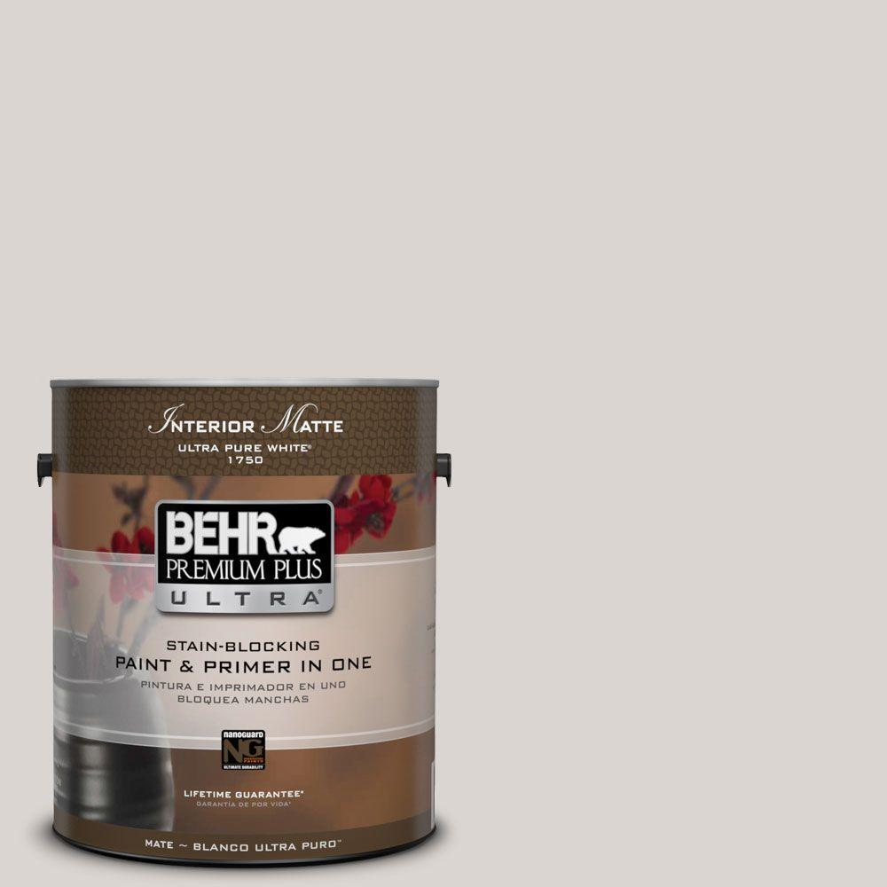 BEHR Premium Plus Ultra Home Decorators Collection 1 gal. #HDC-MD-21 Dove Flat/Matte Interior Paint and Primer in One