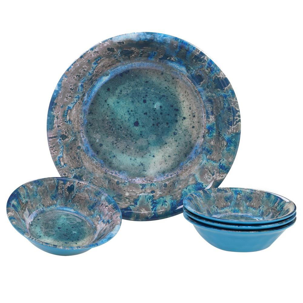 Certified International Radiance Multicolor Salad/Serving Set (Set of 5)
