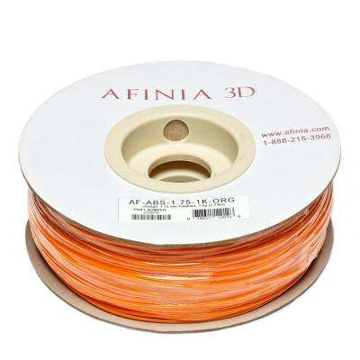 Value-Line 1.75 mm Orange ABS Plastic 3D Printer Filament (1kg)